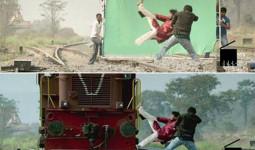 Những cảnh phim Ấn Độ ảo diệu khó tin trước và sau khi dùng kỹ xảo