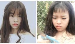 Tự tay cắt tóc mái đi chơi Tết, cô gái bật khóc khi nhìn thành quả qua gương