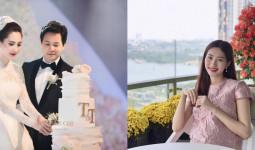 Mùng 2 Tết, Hoa hậu Đặng Thu Thảo khoe bụng bầu con đầu lòng