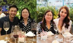 Cường Đô La chụp ảnh thân thiết với mẹ Đàm Thu Trang