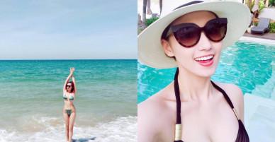 Loạt ảnh bikini nóng bỏng của Lã Thanh Huyền ngày đầu năm mới