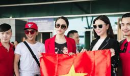 Hương Giang diện nguyên cây đồ đỏ rực, đẹp rạng rỡ tại sân bay lên đường chinh chiến Hoa hậu Chuyển giới Quốc tế