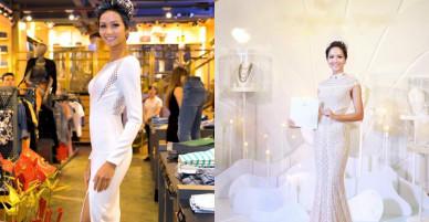 Bất chấp bị chê 'một màu', H'Hen Niê vẫn quá đà với váy áo sắc trắng