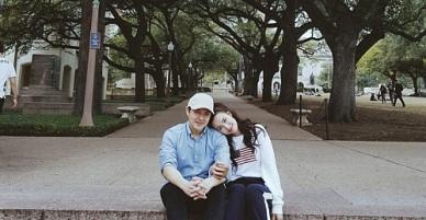 Đông Nhi hạnh phúc tựa đầu vào vai Ông Cao Thắng, kỷ niệm 9 năm yêu nhau trên đất Mỹ