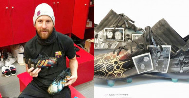 Họa sỹ đổi đời nhờ vẽ giày tặng Messi