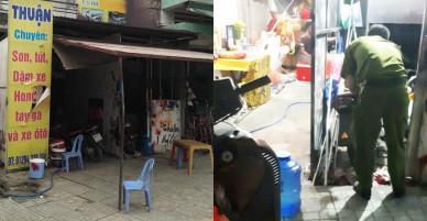Nhóm côn đồ ném bom xăng vào tiệm sơn, truy sát người dân