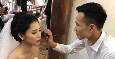 Chú rể dành 6 tháng học make-up để tự tay trang điểm cho vợ khi chụp hình cưới