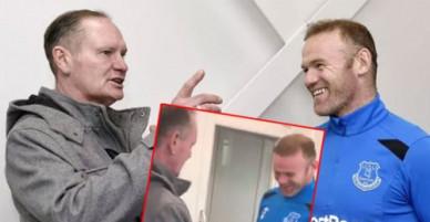 'Siêu quậy' Gascoigne gặp lại Rooney, tái hiện hành động thưởng tiền