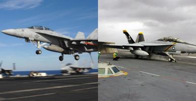 Chiến đấu cơ đầy uy lực trên tàu sân bay Mỹ đến Việt Nam