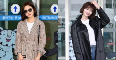 Tự tin với tóc ngắn, Shin Se Kyung hạ đo ván mỹ nữ khí chất Go Jun Hee nổi bần bật tại sân bay