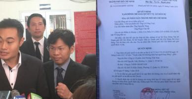 Tạm đình chỉ vụ Vinasun kiện GrapTaxi đòi bồi thường thiệt hại