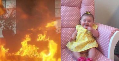Bé gái 8 tháng tuổi thoát chết may mắn trong vụ hỏa hoạn, ai cũng ngạc nhiên khi biết danh tính ân nhân cứu mạng