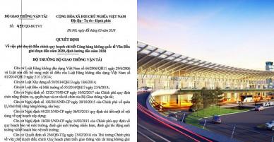 Công bố điều chỉnh quy hoạch Cảng hàng không quốc tế Vân Đồn