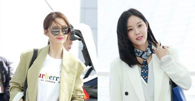 Cùng ra sân bay, Hyomin khoe chân triệt để có đủ sức đọ lại gu thời trang tinh tế của Yoona?