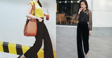 Đúng là đẳng cấp Hồ Ngọc Hà, Thanh Hằng, mặc quần vải đen cũng sang chảnh hết nấc!