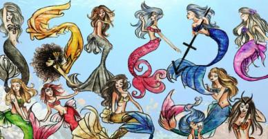 Diện mạo lộng lẫy của 12 chòm sao khi trở thành nàng tiên cá