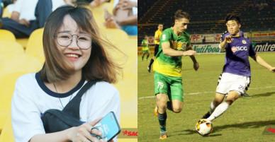 Hot girl 'Chạm khẽ tim U23 chút thôi' để mặt mộc đi cổ vũ cho Duy Mạnh, Quang Hải
