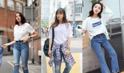 Quần jean mặc cùng áo thun: Set đồ mùa hè đơn giản nhưng cứ diện là đẹp cực kỳ