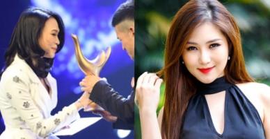 Hương Tràm cảm ơn Mỹ Tâm vì nhận giải thưởng thay cho Em gái mưa