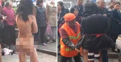 Nữ đạo chích tự lột đồ giữa phố, thách cảnh sát bắt