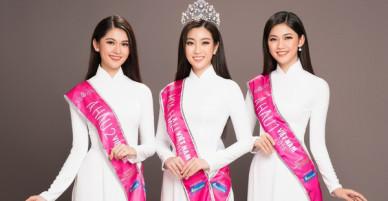 Cùng diện áo dài trắng sau 2 năm đăng quang, Top 3 Hoa hậu Việt Nam 2016 ai xinh đẹp hơn?