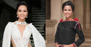 Trang phục tôn làn da của Hoa hậu HHen Niê