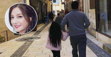 Hình ảnh chồng con hiếm hoi được Triệu Vy khoe khéo trên mạng xã hội
