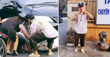 Thợ bơm vá 'bao đồng' ở Sài Gòn: Nghe tin ùn tắc trên đài FM rồi đạp xe đến điều tiết giao thông