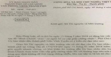 """TP.HCM chỉ đạo khẩn vụ Bình Chánh """"treo"""" cả ngàn giấy chứng nhận"""
