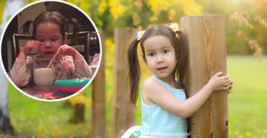 Cô bé lai Canada nước mắt lã chã khi nghe bài hát về mẹ