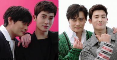 Khoảnh khắc cực phẩm: Jang Dong Gun và Park Hyung Sik đã đẹp, lại còn dựa vào nhau tình bể bình