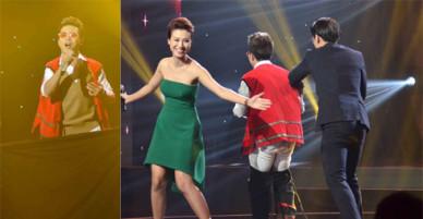 Học trò Minh Tuyết bị tuột quần khi đang hát trên sân khấu Ai sẽ thành sao