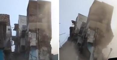 Clip: Căn hộ 3 tầng đổ sập vì bị hàng ngàn con chuột đục khoét dưới nền nhà