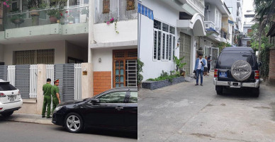 Công an có mặt tại nhà ông Trần Văn Minh, ông Văn Hữu Chiến