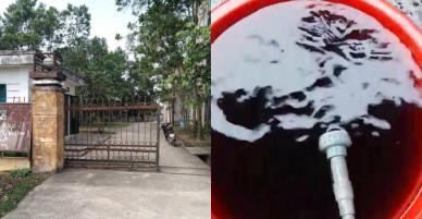 Dân tố nước sạch nhà máy đen ngòm như… nước cống