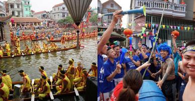 Hàng vạn người cổ vũ đua thuyền hội làng Đăm ở Hà Nội
