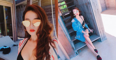 Midu khiến dân tình 'chao đảo' khi diện bikini 2 mảnh phô trọn vòng 1 gợi cảm