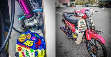 Huyền thoại Honda Dream độ tận chân, rất nhiều đồ chơi hay