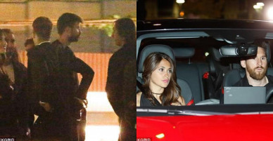 Messi đưa vợ đến tiệc mừng chức vô địch của Barca