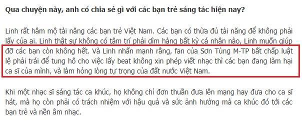 Dương Khắc Linh, tin8, đạo nhạc, Sơn Tùng M - TP, Trịnh Thăng Bình, Đã biết sẽ có ngày hôm qua, đừng như thói quen, chắc ai đó sẽ về, Vũ Cát Tường, Because I miss you