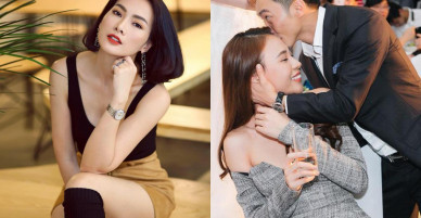 """Cường Đô la công khai hôn Đàm Thu Trang, Anh Thư thắc mắc: """"Người đến sau có hạnh phúc hơn người đến trước?"""""""