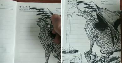 Tài năng có hạn nhưng vẫn thích thể hiện, anh trai vẽ rồng giúp em gái và cái kết cười ra nước mắt