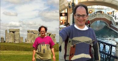 Du lịch 120 chuyến, người đàn ông tự đan 120 chiếc áo làm kỷ niệm