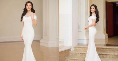 Hoa hậu Mỹ Linh gợi cảm với váy đuôi cá nhận giải 'Nghệ sĩ nhân ái'