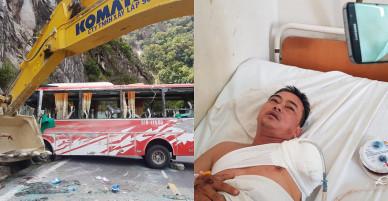 Tài xế xe khách chở 30 người kể giây phút xe bị lật trên đèo