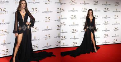 Alessandra Ambrosio diện dàn váy đen gợi cảm tại Cannes