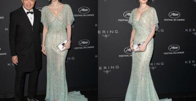 """""""Mỹ nhân Tân Cương"""" Cổ Lực Na Trát lộ dấu hiệu thẩm mỹ hỏng tại sự kiện Cannes?"""