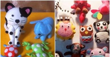 Mẹ hai con vượt qua trầm cảm nhờ làm đồ chơi bằng vải nỉ