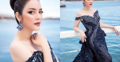 """Diện váy đính hàng ngàn viên pha lê, Lý Nhã Kỳ chính là """"nữ hoàng băng giá"""" của Cannes 2018"""