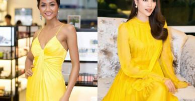 Hoa hậu H' Hen Niê, Đỗ Mỹ Linh mang sắc vàng công phá mạnh mẽ làng mốt Việt